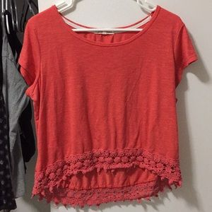 Coral color tee